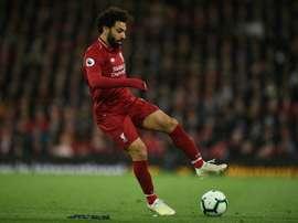 Salah pediu aos adeptos apoio na final da Champions em Madrid. AFP
