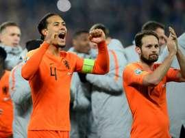 Van Dijk absent contre l'Estonie. AFP