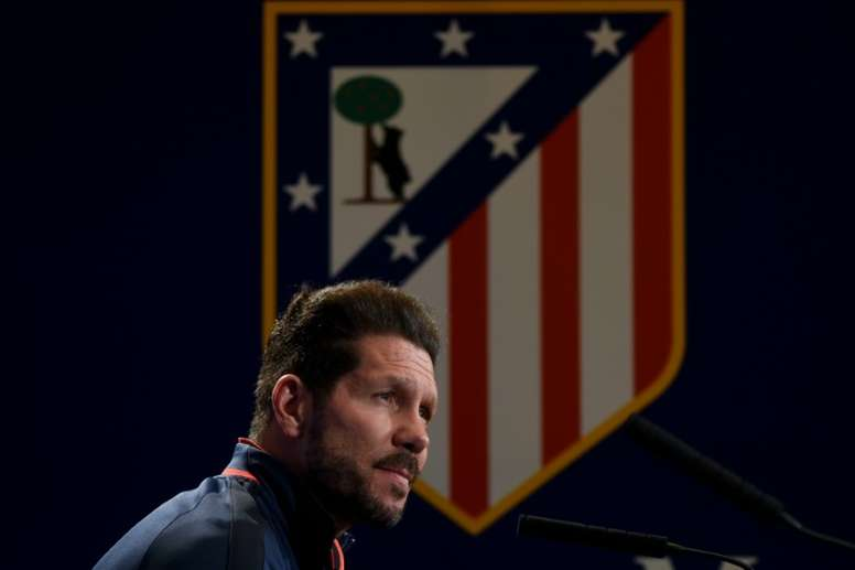 Simeone cree que el Atlético está ante una gran oportunidad de hacer historia ante el Bayern. AFP