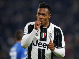 Juventus' Alex Sandro happy with performance. AFP