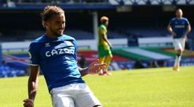 Calvert-Lewin, una de las estrellas del Everton. AFP