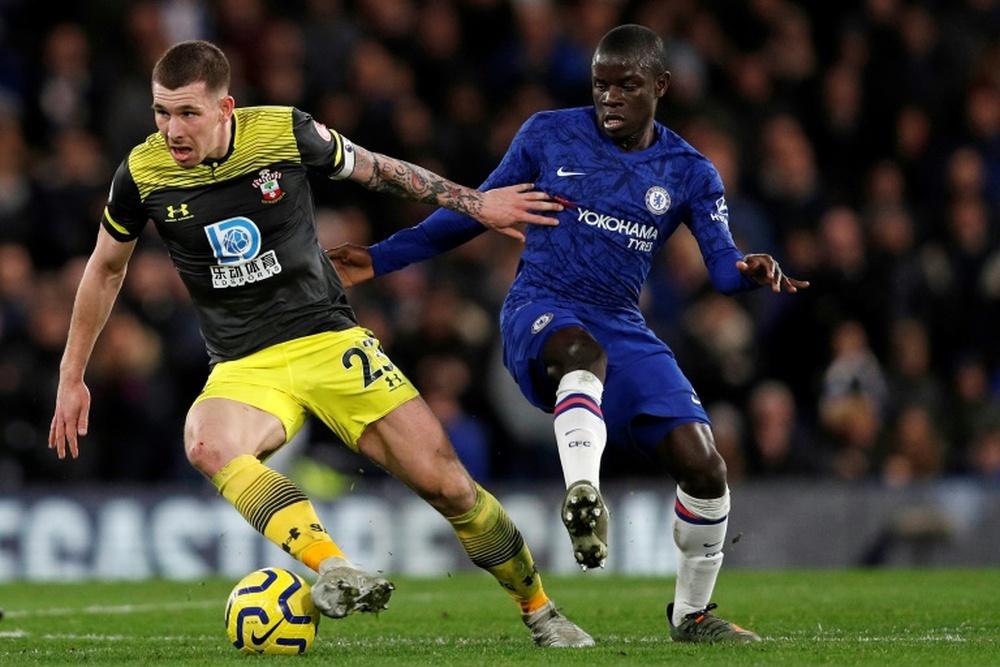 El Chelsea no pudo con un Southampton combativo. AFP