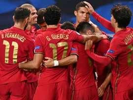 La liste du Portugal pour l'Espagne, la France et la Suède. AFP