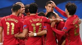 Le Portugal domine la Suède, Ronaldo passe la barre des 100. afp