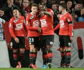 Rennes segue em frente na Copa da Liga francesa. AFP