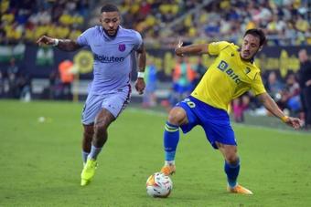 Memphis ha sido de lo mejor del Barça hasta el momento. AFP