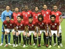 L'équipe d'Égypte avant un match contre le Niger. AFP
