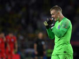 Le gardien de l'Angleterre Jordan Pickford. AFP