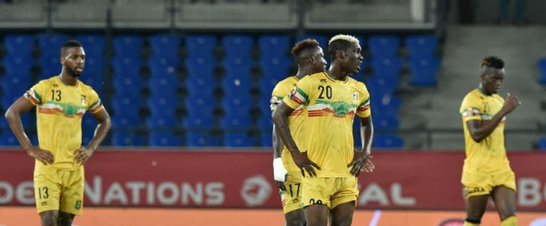 Les joueurs maliens n'ont pu faire mieux qu'un match nul contre l'Ouganda dans le groupe D. AFP