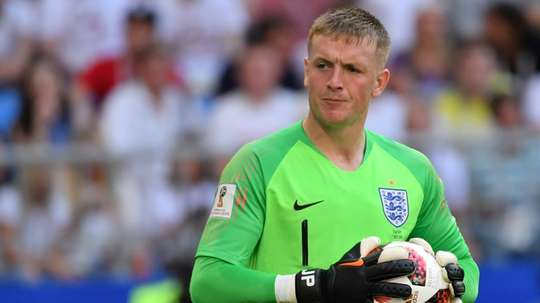 Jordan Pickford became a star over the summer after some top performances for England. AFP