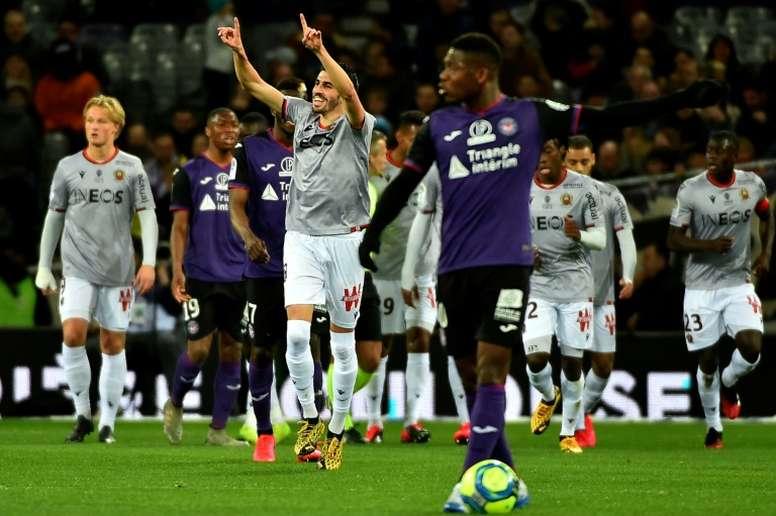 Toulouse poursuit sa chute record face à Nice. AFP
