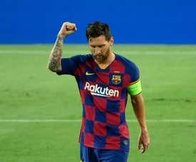 Tredici anni del Barcellona ai quarti. AFP