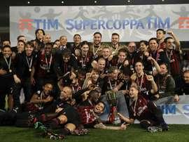 L'AC Milan a remporté vendredi la SuperCoupe d'Italie face à la Juventus Turin. AFP