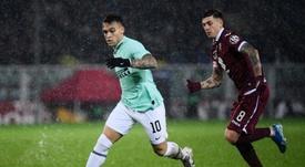 'Je pense que le Barça et l'Inter trouveront un accord pour Lautaro'. AFP