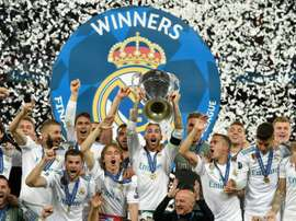 Real Madrid were victorious in the last Champions League, and will aim to retain the title. AFP