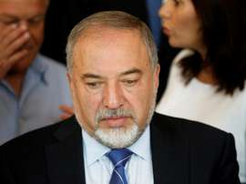 Le ministre israélien de la Défense, Avigdor Lieberman, évoque l'annulation du match. AFP