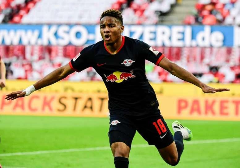 El RB Leipzig se marchó con tres puntos más que satisfactorios. AFP