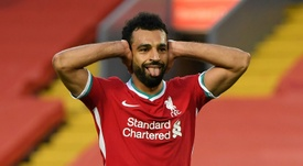 Salah is keen on a move to Barca. AFP