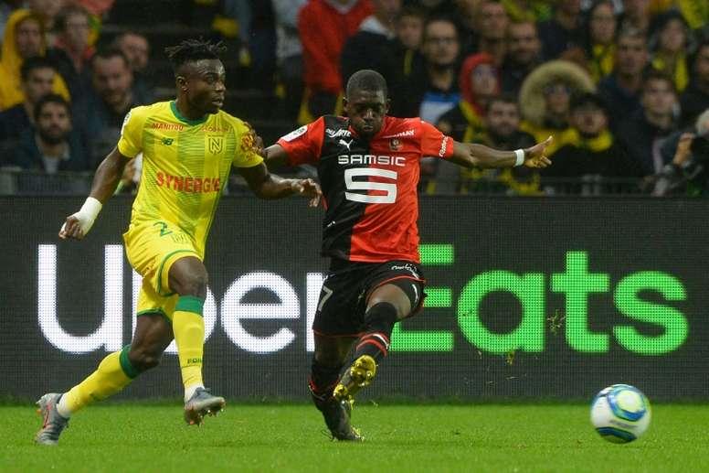 El Rennes busca la renovación de Traoré. AFP