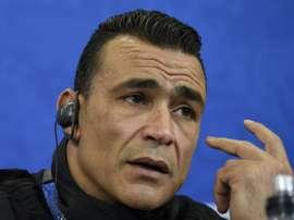 El-Hadary devient à 45 ans le joueur plus âgé de  coupe du Monde. AFP