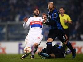 A Atalanta venceu o Lyon pela margem mínima. AFP