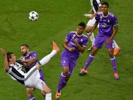 El gol de Mandzukic ante el Real Madrid, de lo mejor de la pasada campaña. AFP