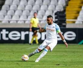 Dimitri Payet anotó un golazo que de poco sirvió ante el Apollon Limassol. AFP