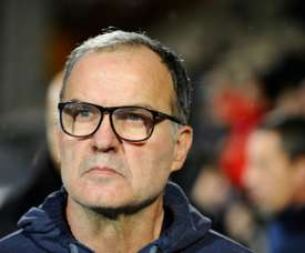 Bielsa's Leeds United are currently top of the Championship. AFP