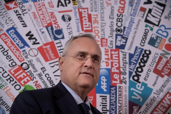 Claudio Lotito es el presidente de la Lazio, pero también de la Salernitana. AFP/Archivo