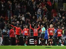 Adama Diakhaby anotó en el minuto 92. AFP