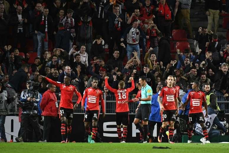 Rennes reçoit Guingamp. AFP