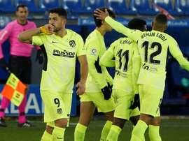 Le formazioni ufficiali di Eibar-Atletico Madrid. AFP