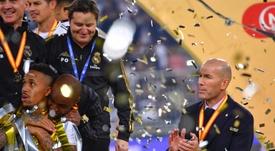 Zidane já é o segundo treinador com mais títulos no Real. AFP