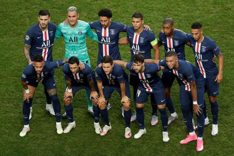 Sept joueurs du PSG nommés pour l'équipe type UEFA. afp