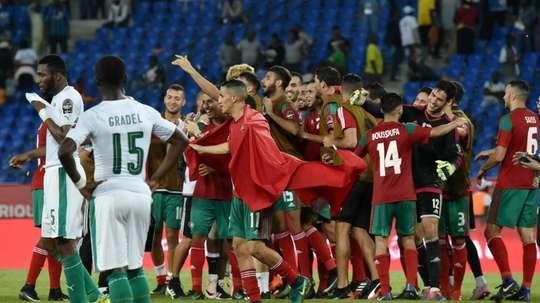 Le Maroc s'entraîné pour le Mondial. AFP