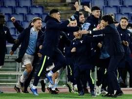 La Lazio dernière qualifiée pour les quarts de finale. afp