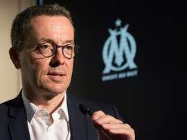 Eyraud habló también sobre la situación del fútbol francés. AFP
