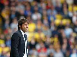 L'entraîneur de Chelsea Antonio Conte lors d'un match à Watford, le 20 août 2016. AFP