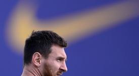 Messi, listo para el servicio. AFP