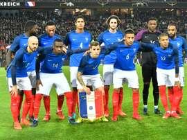 L'équipe de France avant un match amical contre l'Allemagne. AFP