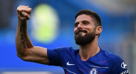 Olivier Giroud is enjoying life under Maurizio Sarri. AFP