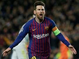 Messi na briga pela artilharia da Champions. EFE