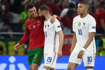 Benzema a révélé ce que Cristiano lui a dit après le match. AFP