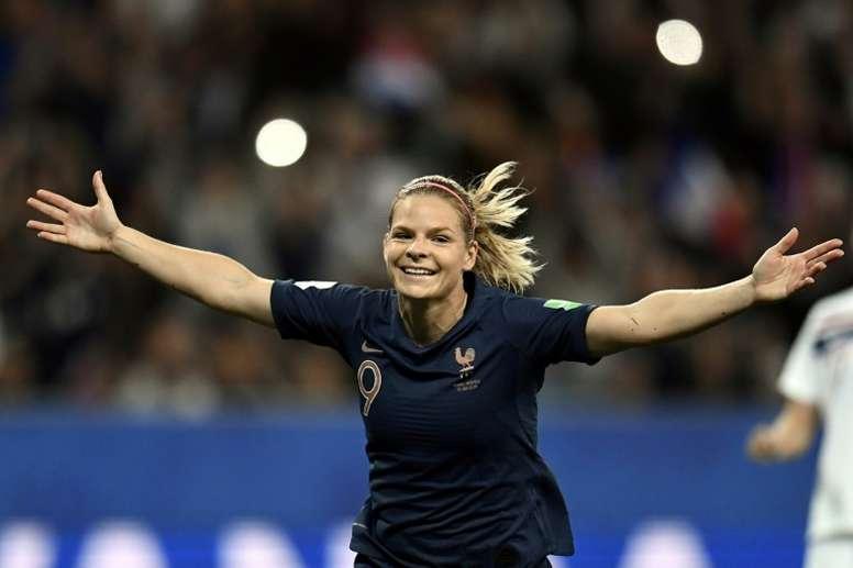 Le Sommer: le record de buts chez les Bleues n'est pas quelque chose qui me hante. AFP