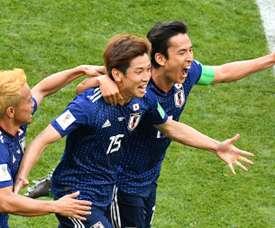 Osako abriu o placar para o Japão. AFP