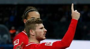 Leipzig impressionne et se hisse en deuxième position. AFP