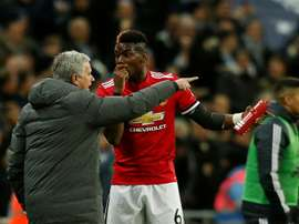 Mourinho has reportedly hit out at Paul Pogba in training. AFP