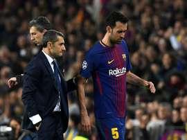 Valverde has decided his squad. AFP