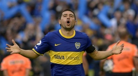 Riquelme no eligió a Messi al elegir al mejor del mundo. AFP