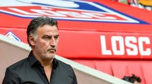 Galtier n'était pas pleinement satisfait de la performance de ses joueurs. AFP